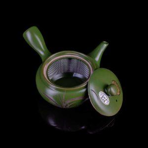 """Чайник кюсу зелёный""""Гармония природы"""""""