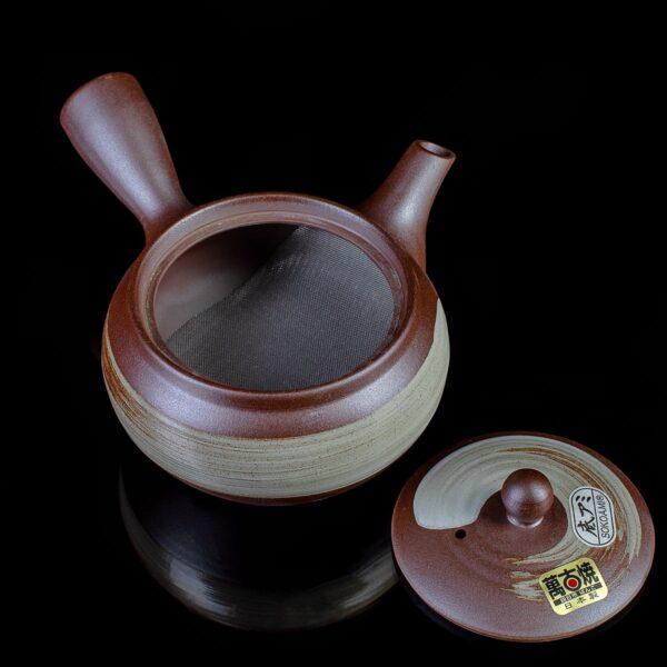 Чайник-кюсу-коричневый-Торнадо