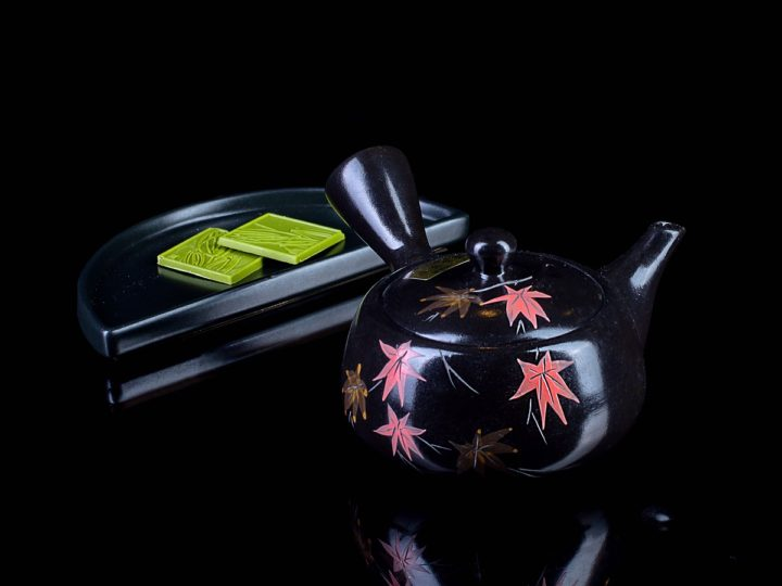 """Чайник кюсу чёрный """"Японский клён"""""""