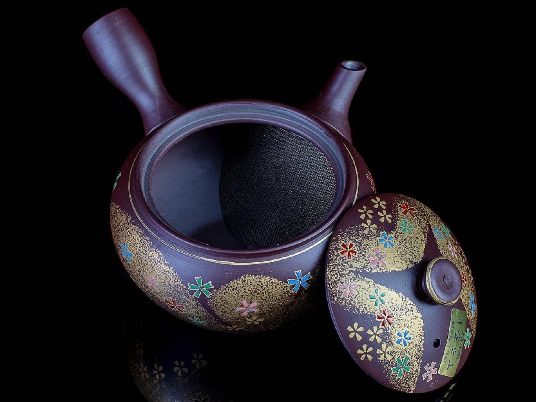 Чайник кюсу коричневый Восточная сказка